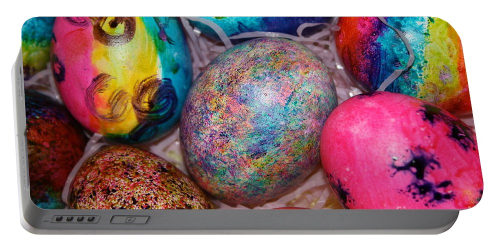 Easter Portable Battery Charger featuring the photograph Basket Case by Brook Steed
