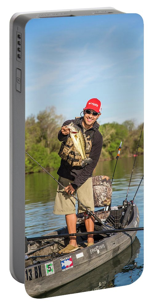 Enjoyment Portable Battery Charger featuring the photograph Bass Caught In Austin Texas by Dustin Doskocil