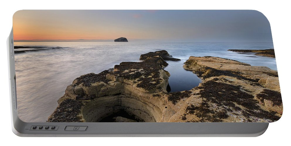 Bass Rock Portable Battery Charger featuring the photograph Bass Rock by Rod McLean