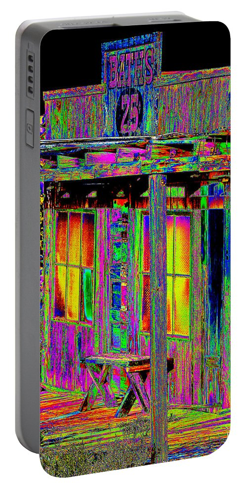 Building Portable Battery Charger featuring the photograph Bath House Pop Art by Phyllis Denton