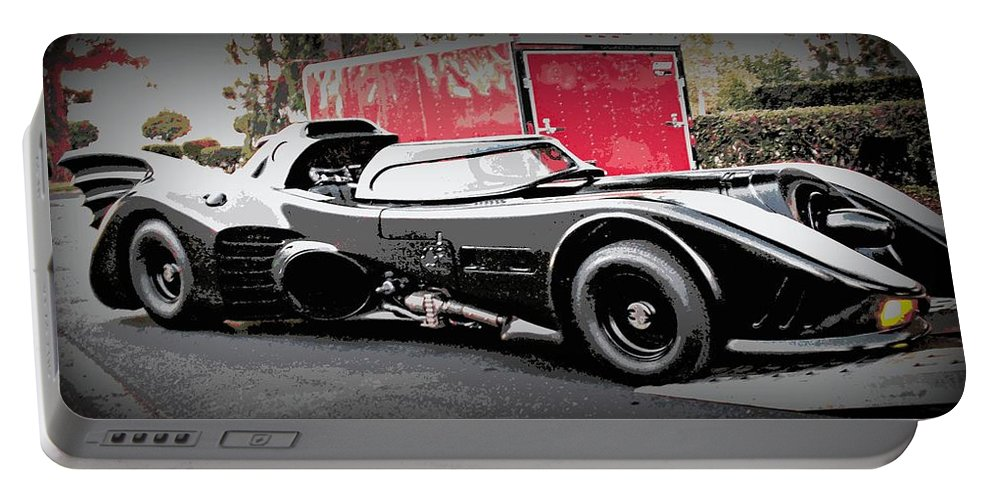 Batmobile Portable Battery Charger featuring the photograph Batmobile by Cathy Smith