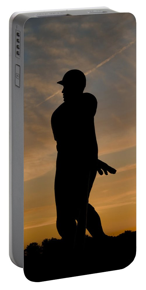 Batter Portable Battery Charger featuring the photograph Batter At Dawn - Phillies by Bill Cannon
