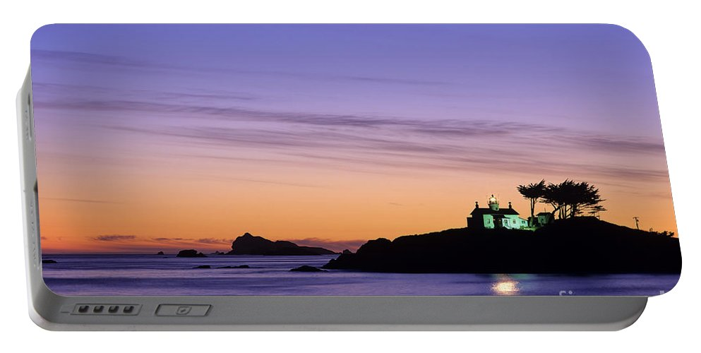 Landscape Portable Battery Charger featuring the photograph Battery Point Lighthouse by Jim Corwin