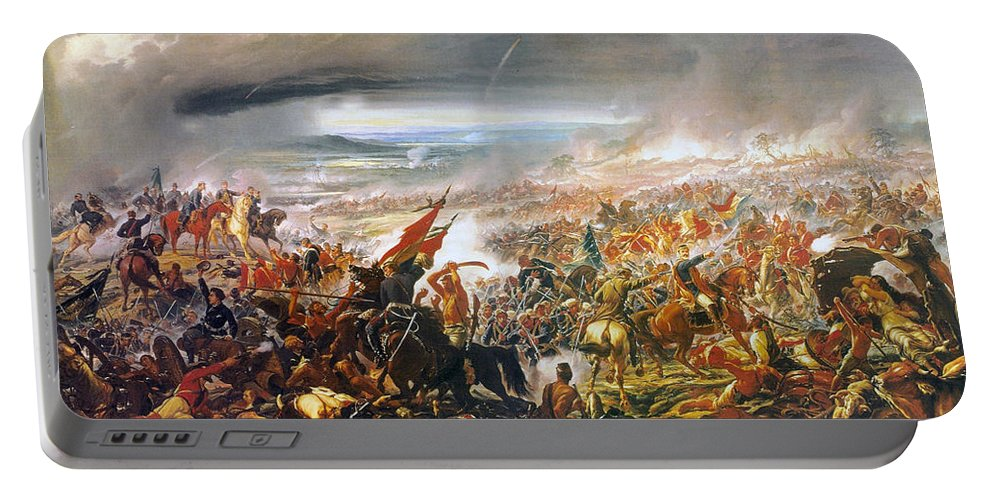 Pedro Americo Portable Battery Charger featuring the digital art Battle Of Avay by Pedro Americo