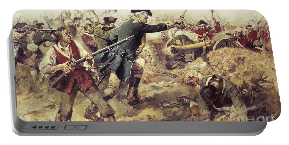 General John Stark Portable Battery Charger featuring the painting Battle Of Bennington by Frederick Coffay Yohn
