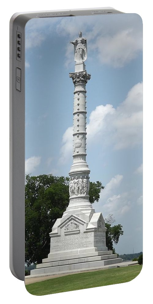 Yorktown Portable Battery Charger featuring the digital art Battle Of Yorktown Monument by Barkley Simpson