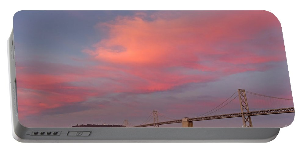 Bay Bridge Portable Battery Charger featuring the photograph Bay Bridge Sunset by Kate Brown