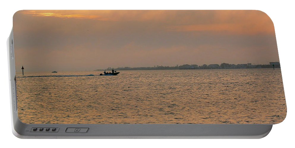 Fishing Portable Battery Charger featuring the photograph Bay Fishing by Robert Brown