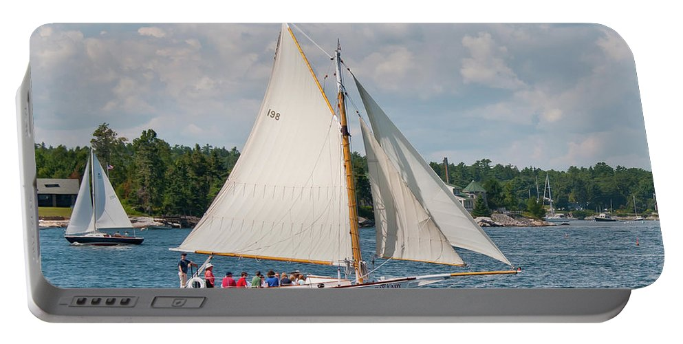 Boat Portable Battery Charger featuring the photograph Bay Lady 1270 by Guy Whiteley