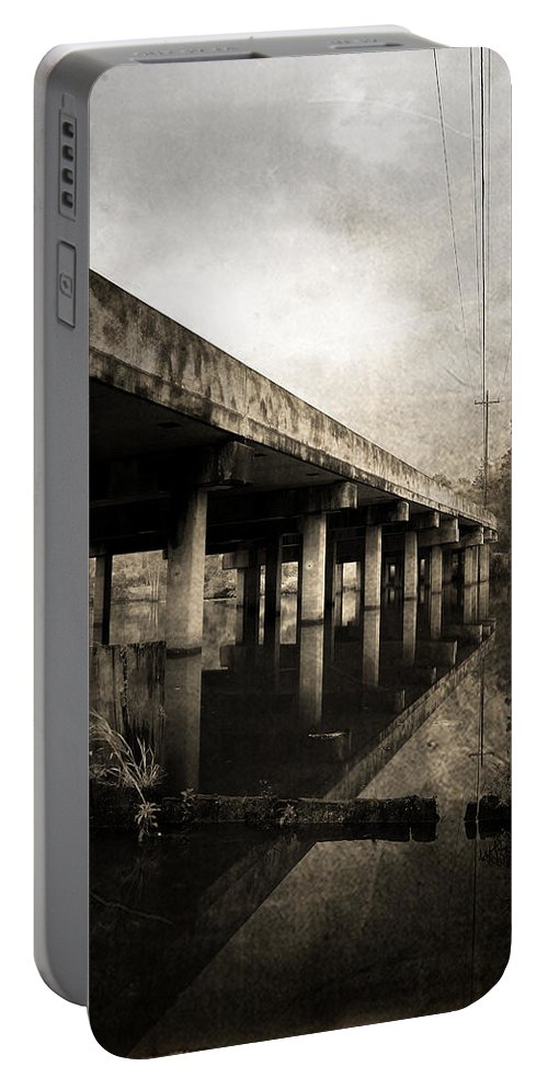 Water Portable Battery Charger featuring the photograph Bay View Bridge by Scott Pellegrin