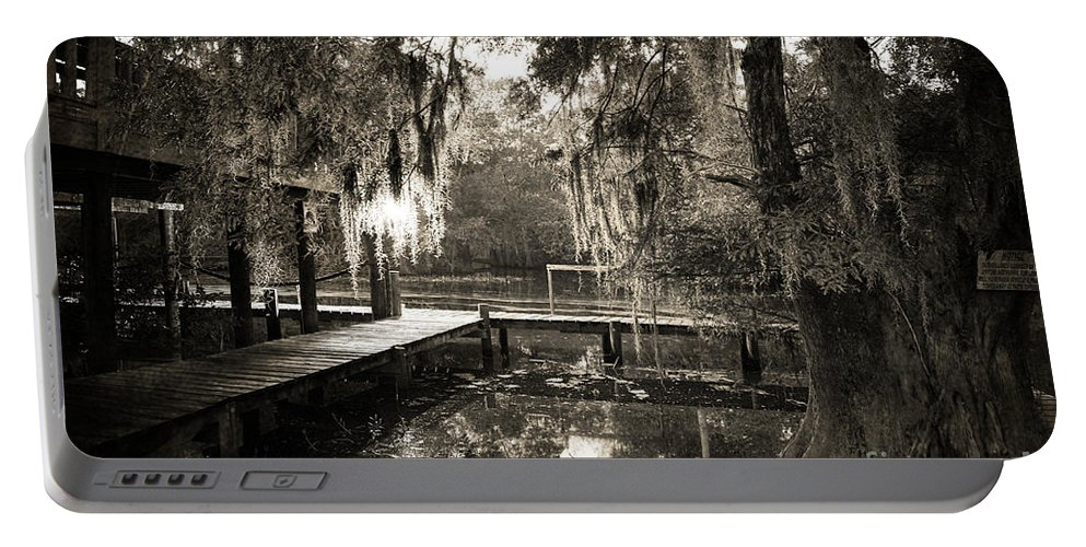 Swamp Portable Battery Charger featuring the photograph Bayou Evening by Scott Pellegrin