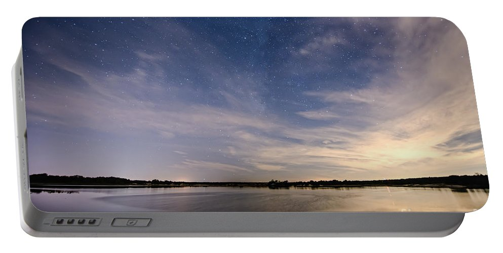 Fisheye Portable Battery Charger featuring the photograph Bayville Nj Milky Way by Michael Ver Sprill