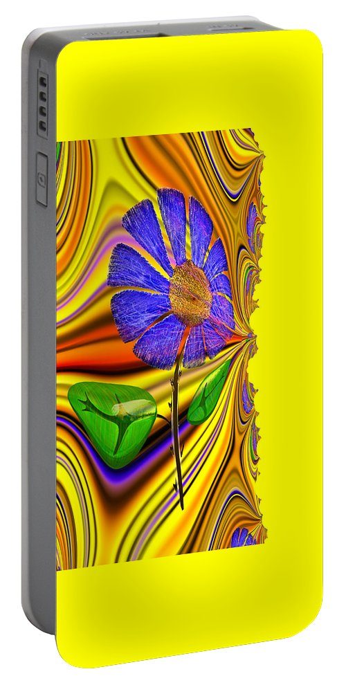 Painting For Livingroom Portable Battery Charger featuring the digital art Carpe Diem Feng Shui by Digital Feng Shui