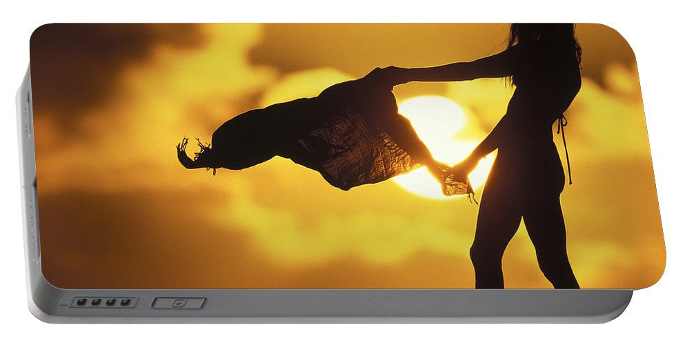 Beach Girl Portable Battery Charger featuring the photograph Beach Girl by Sean Davey