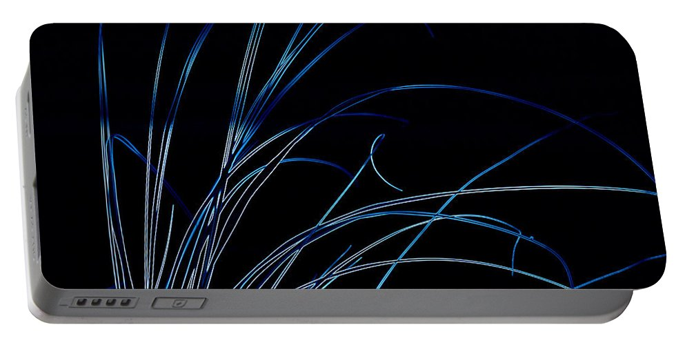 Digital Photograph Portable Battery Charger featuring the digital art Beach Grass Abstract by Laurie Pike