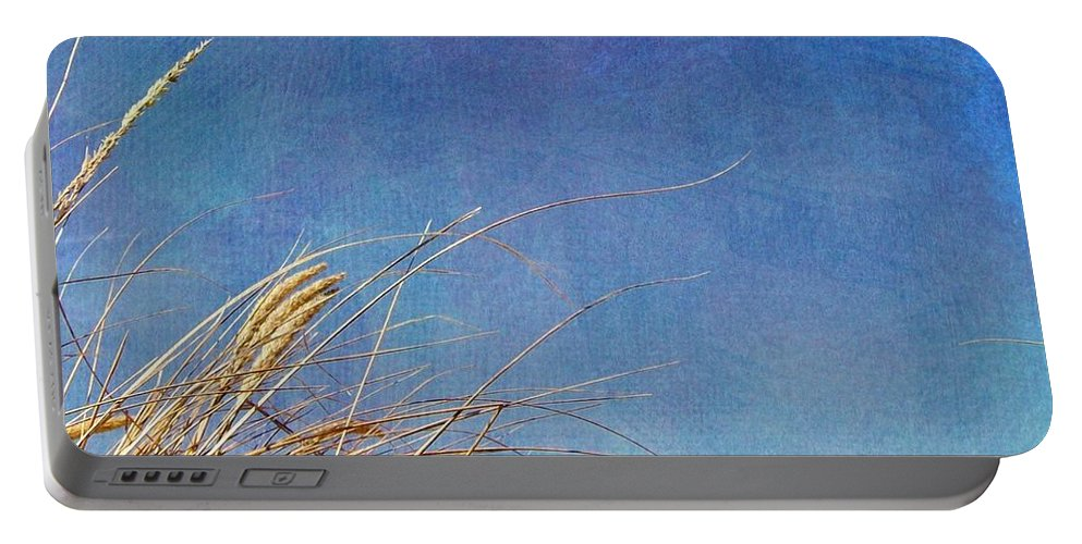 Beach Portable Battery Charger featuring the photograph Beach Grass In The Wind by Michelle Calkins