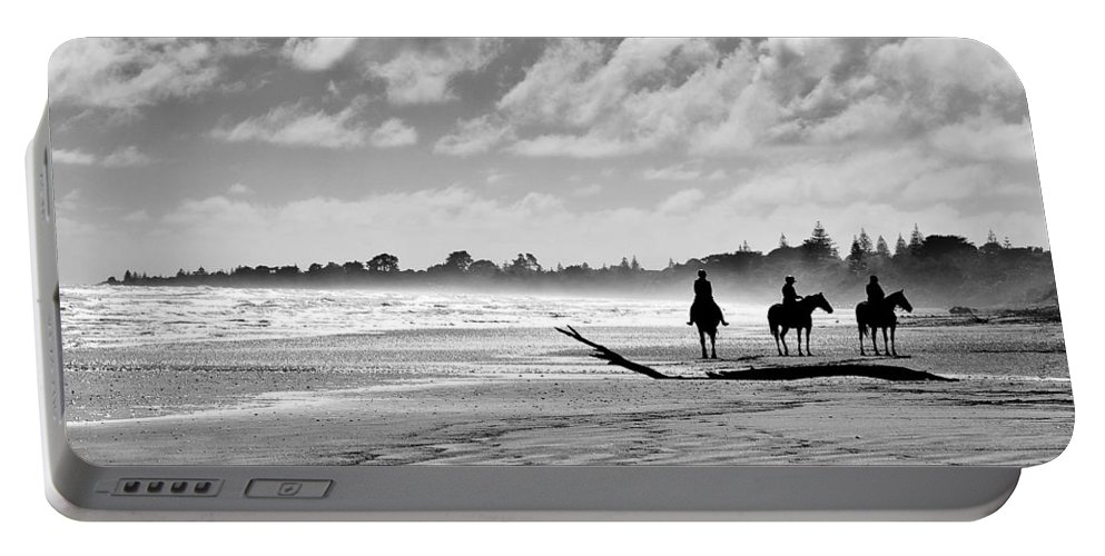 Ride Portable Battery Charger featuring the photograph Beach Riders by Dave Bowman