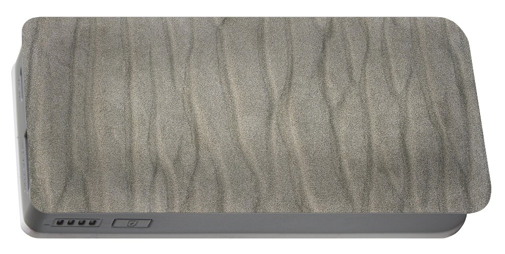 Beach Sand Pattern Portable Battery Charger featuring the photograph Beach Sand Pattern by Tom Janca