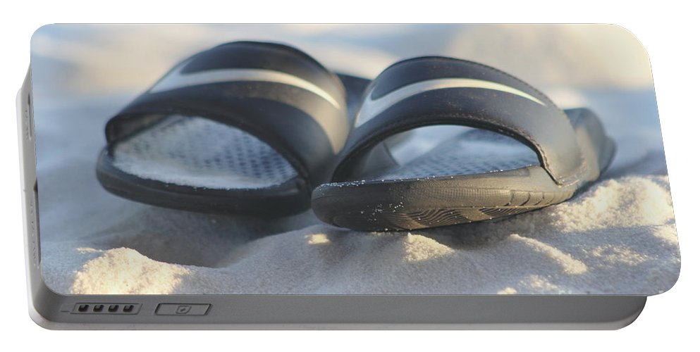 Beach Sandals Portable Battery Charger featuring the photograph Beach Sandals 2 by Michelle Powell