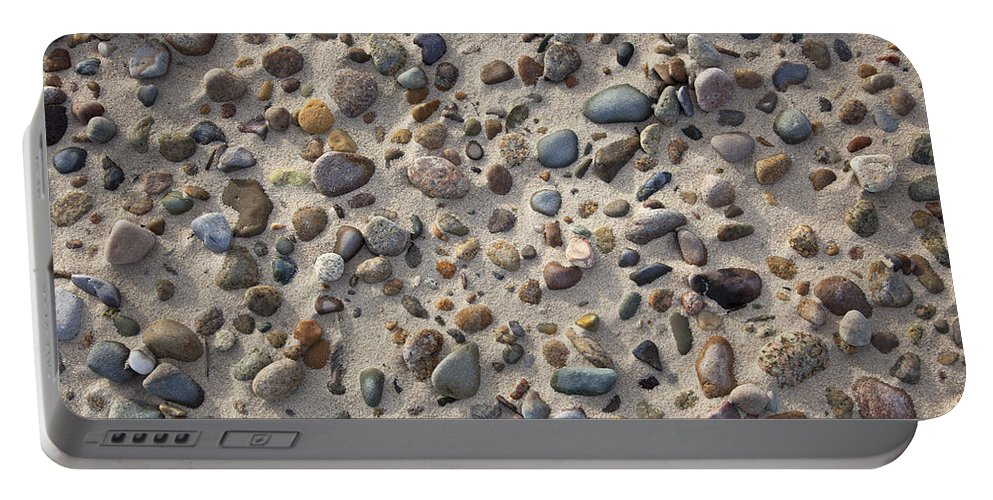 Sandy Neck Portable Battery Charger featuring the photograph Beach Stones by Charles Harden