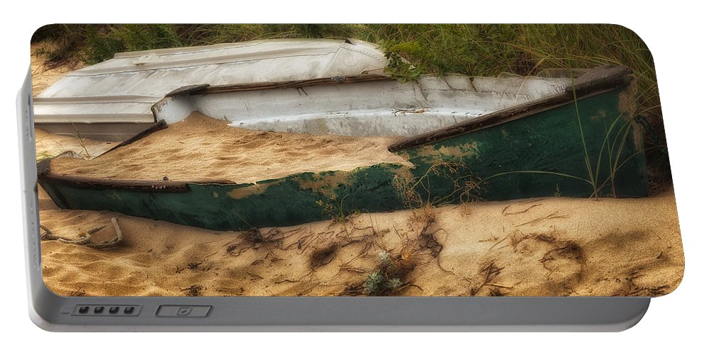 Dingy Portable Battery Charger featuring the photograph Beached by Bill Wakeley