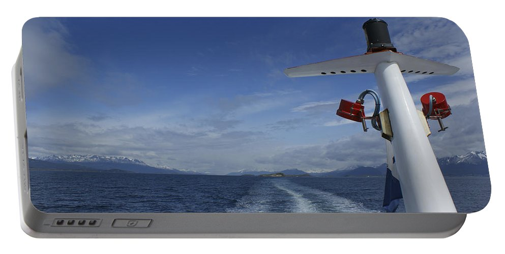 Wave Portable Battery Charger featuring the photograph Beagle Channel by Brian Kamprath