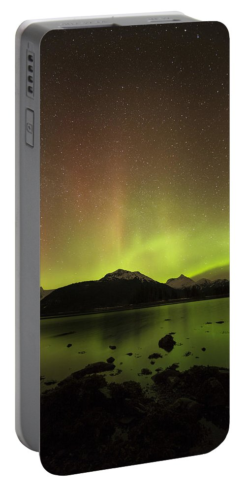 Aurora Portable Battery Charger featuring the photograph Beams by Ted Raynor