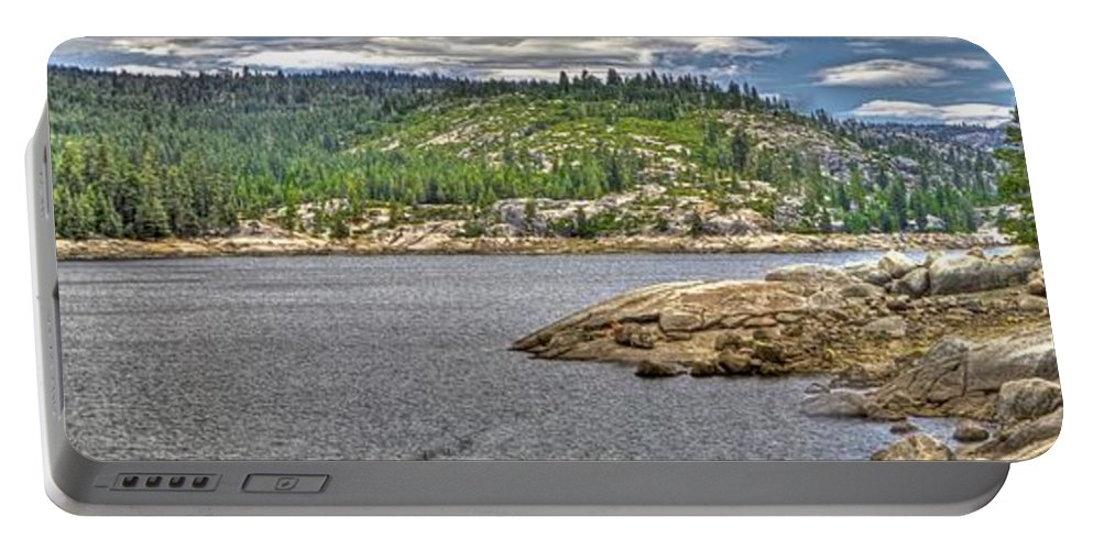Ponderosa Pines Portable Battery Charger featuring the photograph Bear River Creek Reservoir by SC Heffner