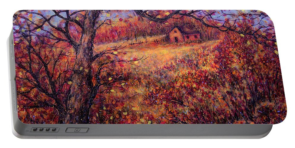 Autumn Portable Battery Charger featuring the painting Beautiful Autumn by Natalie Holland
