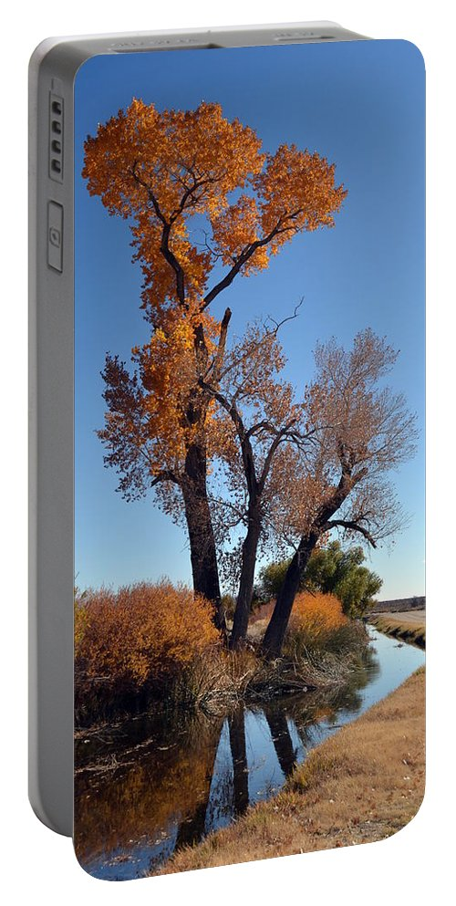 Beautiful Bishop Creek Portable Battery Charger featuring the photograph Beautiful Bishop Canal by Christine Owens