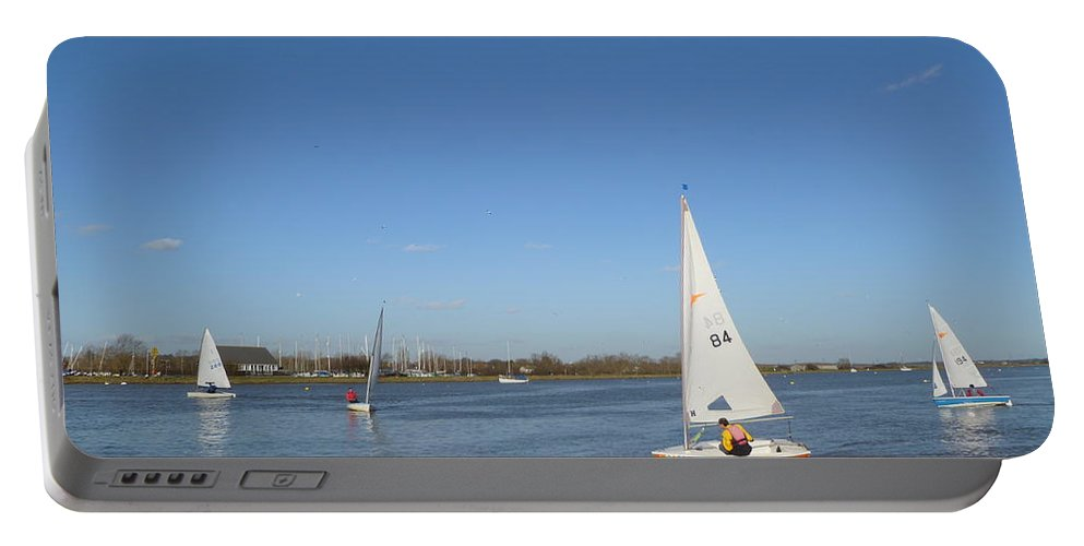 Beautiful Portable Battery Charger featuring the photograph Beautiful Blue Sky by Vicki Spindler
