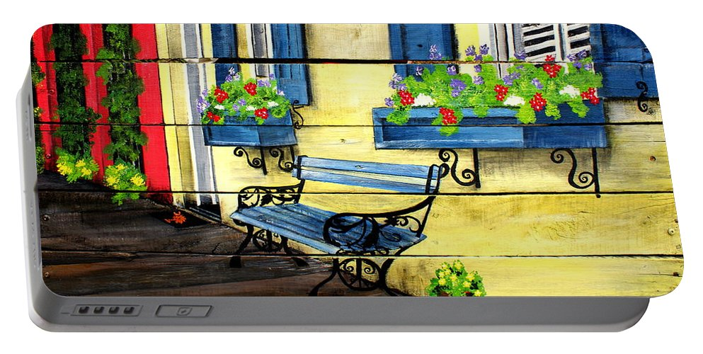 Charleston Portable Battery Charger featuring the painting Beautiful Charleston by Ashley Galloway