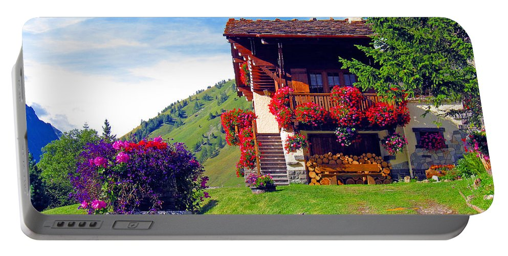 Alexandros Daskalakis Portable Battery Charger featuring the photograph Beautiful Cottage by Alexandros Daskalakis