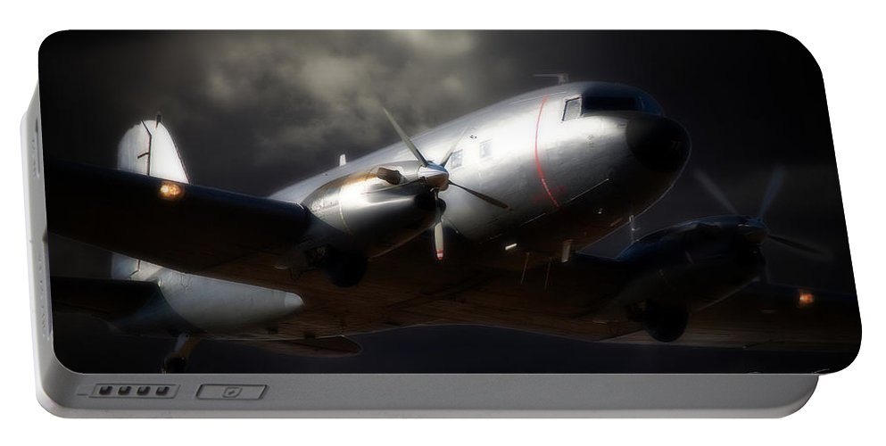 Douglas C-47 Dakota Portable Battery Charger featuring the photograph Beautiful Dakota by Paul Job