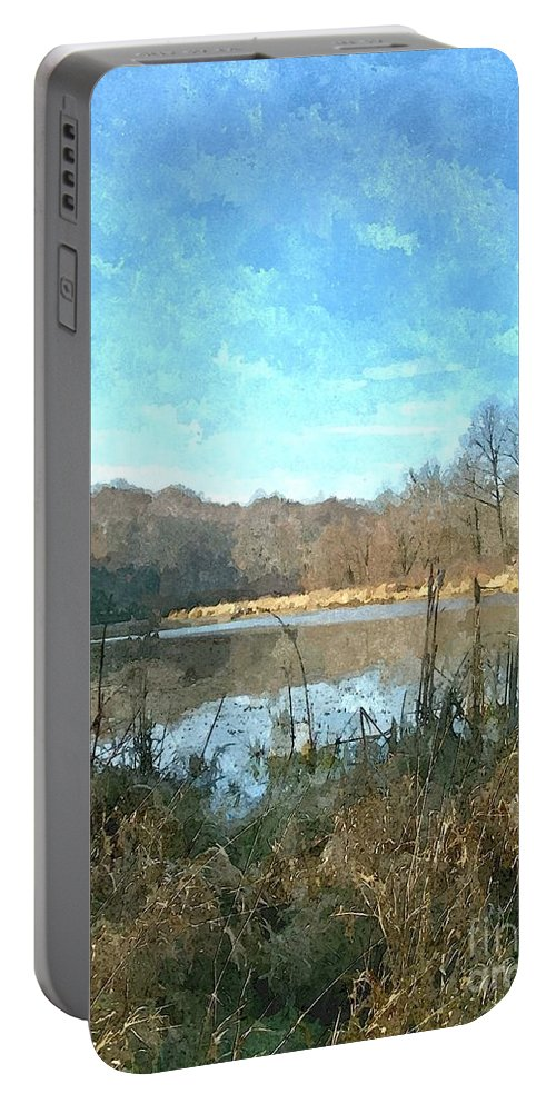 Lake Portable Battery Charger featuring the photograph Beautiful Day 2 by Sara Raber