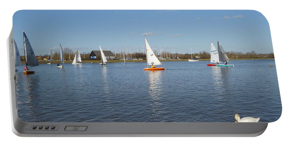Hullbridge Portable Battery Charger featuring the photograph Beautiful Day By The River by Vicki Spindler