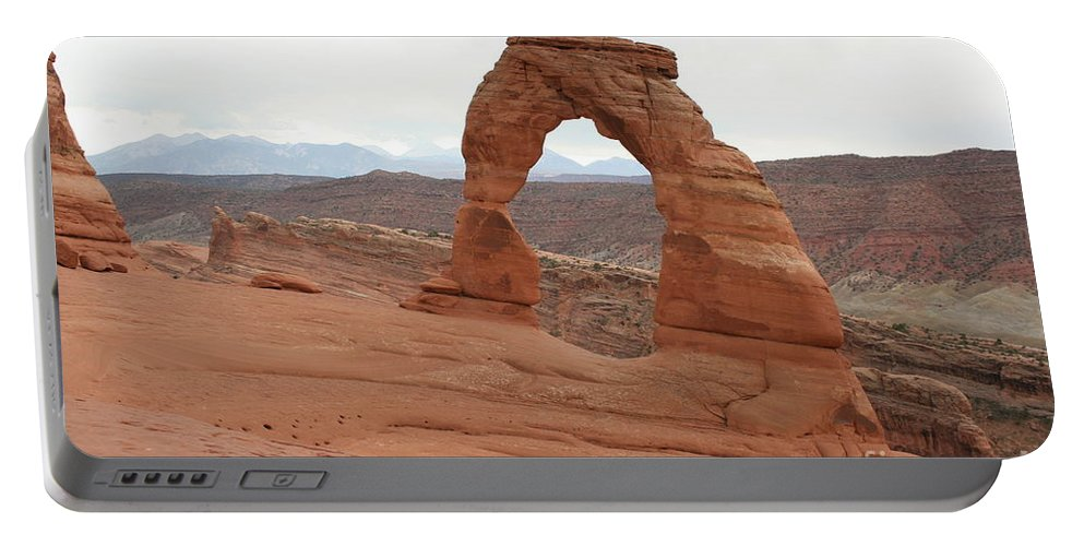 Arch Portable Battery Charger featuring the photograph Beautiful Delicate Arch by Christiane Schulze Art And Photography