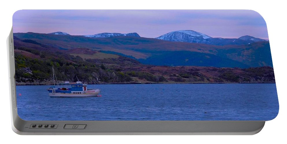 Ullapool Portable Battery Charger featuring the photograph Beautiful Evening At Ullapool by Joan-Violet Stretch