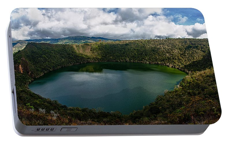 Lake Portable Battery Charger featuring the photograph Beautiful Lake Guatavita by Jess Kraft
