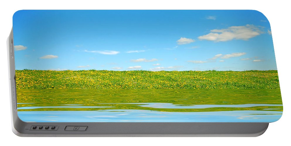 Background Portable Battery Charger featuring the photograph Beautiful Landscape by Michal Bednarek