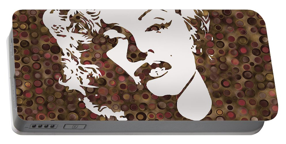 Marily Monroe Actress Portable Battery Charger featuring the painting Beautiful Marilyn Monroe Digital Artwork by Georgeta Blanaru