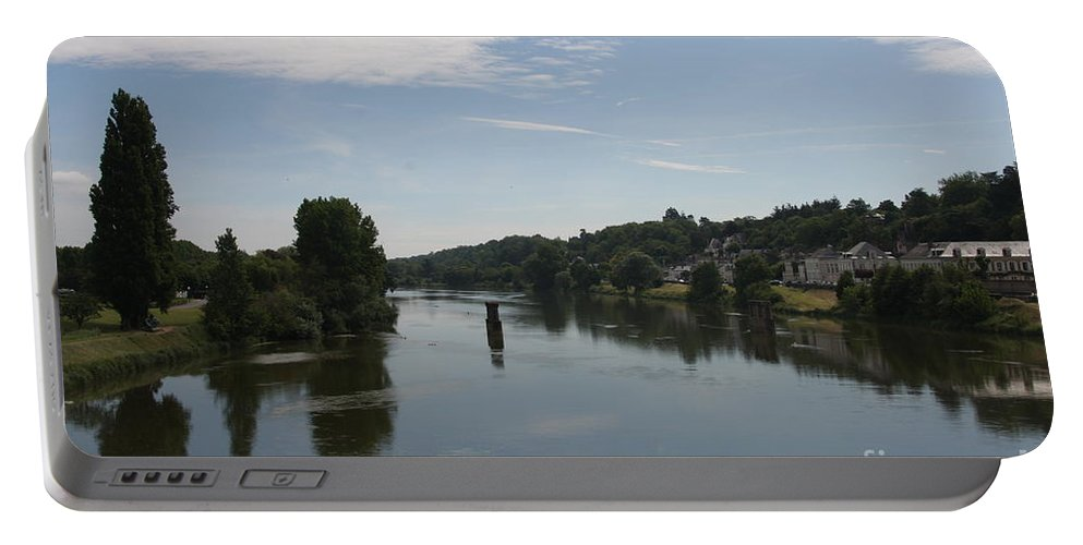 River Portable Battery Charger featuring the photograph Beautiful River Loire by Christiane Schulze Art And Photography