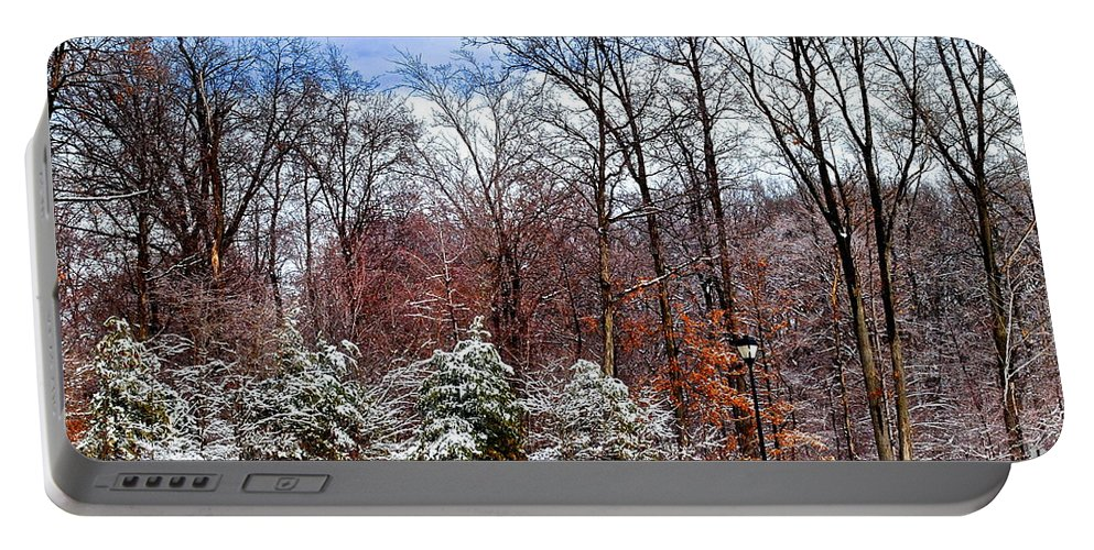 Snow Portable Battery Charger featuring the photograph Beautiful Scenery by Frozen in Time Fine Art Photography