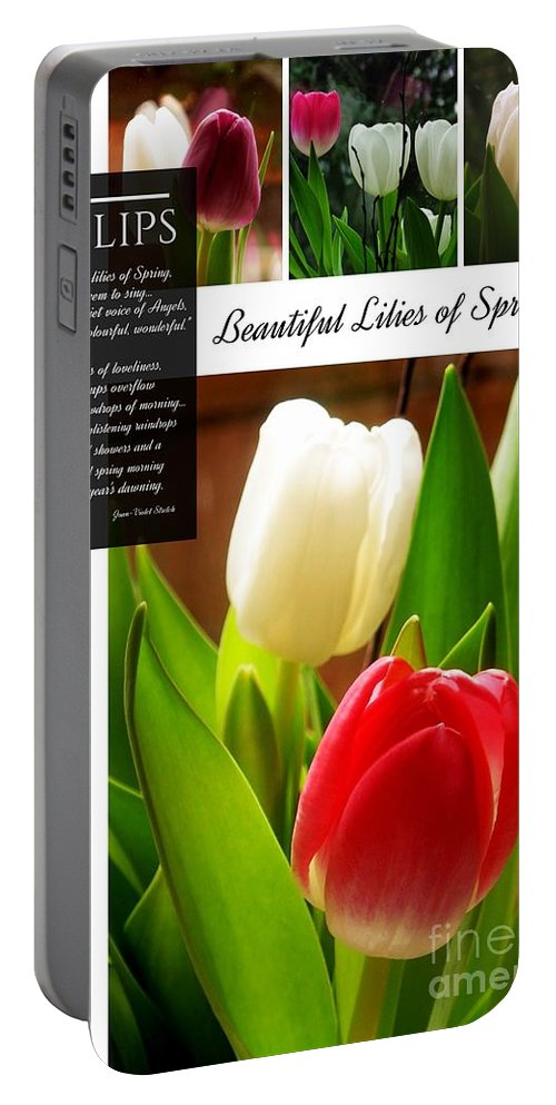 Tulips Portable Battery Charger featuring the photograph Beautiful Tulips Series 2 by Joan-Violet Stretch