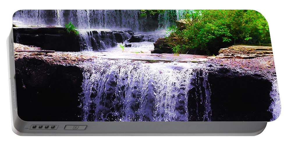Beautiful Portable Battery Charger featuring the photograph Beautiful Waterfall by Bill Cannon