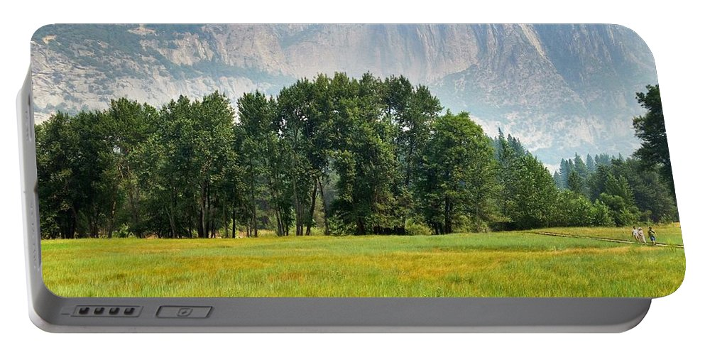 Beautiful Yosemite Meadow Portable Battery Charger featuring the photograph Beautiful Yosemite Meadow by Christine Owens