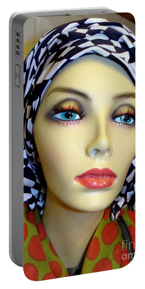 Mannequin Portable Battery Charger featuring the photograph Beauty In Turban by Ed Weidman
