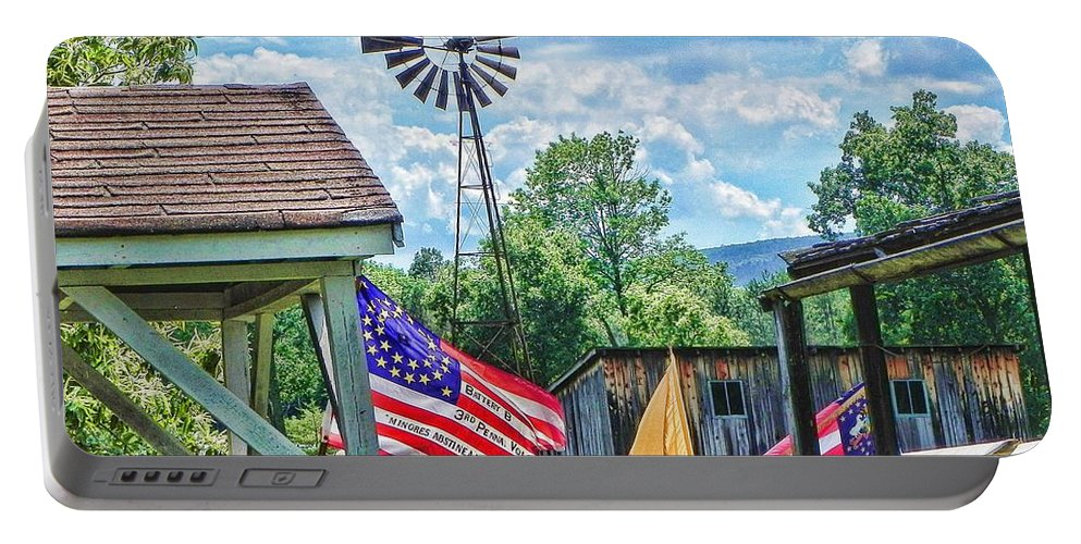 Bedford Village Portable Battery Charger featuring the photograph Bedford Village Pennsylvania by Kathy Churchman