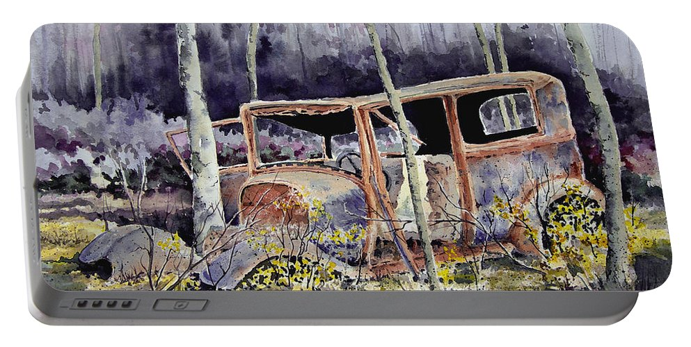 Car Portable Battery Charger featuring the painting Been There by Sam Sidders