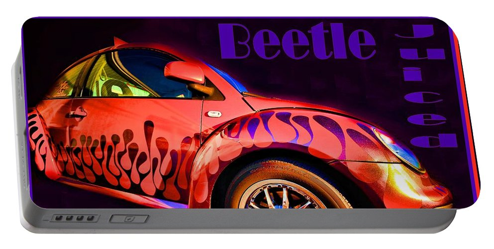 Op Art Portable Battery Charger featuring the photograph Beetle Juiced by Robert McCubbin